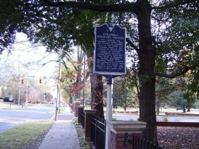 Columbia Seminary Chapel Marker image. Click for full size.