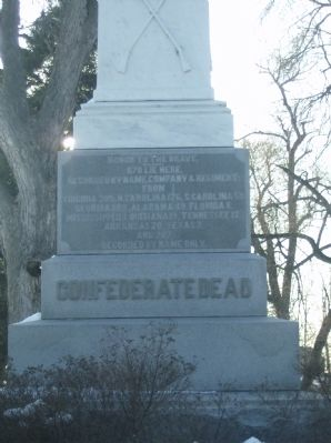 West Panel Confederate Dead Monument image. Click for full size.