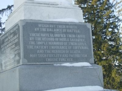 North Panel - Confederate Dead Monument image. Click for full size.
