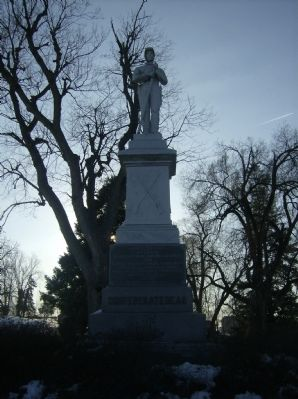 Confederate Dead Monument - Thornrose Cemetery image. Click for full size.