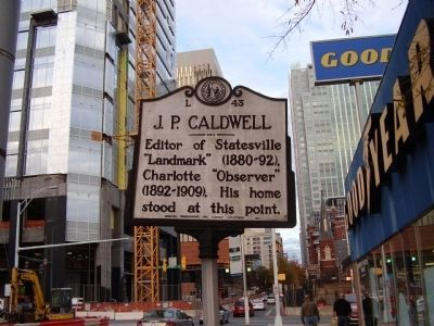 J.P. Caldwell Marker image. Click for full size.