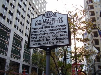 N. C. League of Municipalities Marker image. Click for full size.