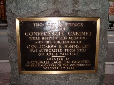 The Last Meetings of the Confederate Cabinet Marker image. Click for full size.