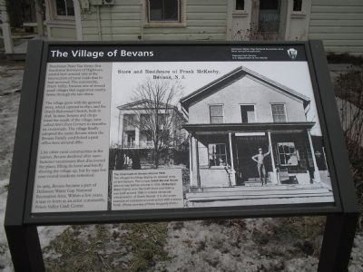 The Village of Bevans Marker image. Click for full size.
