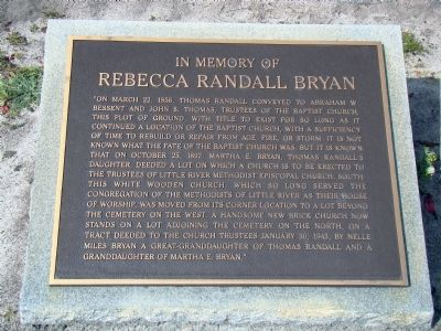 Rebecca Randall Bryan Marker image. Click for full size.