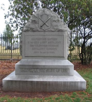 Battery H, 1st Ohio Light Artillery Monument image. Click for full size.