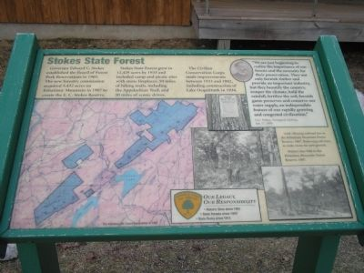 Stokes State Forest Marker image. Click for full size.