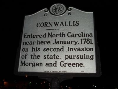 CORNWALLIS Marker image. Click for full size.