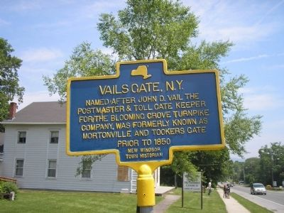 Vails Gate, N.Y. Marker image. Click for full size.