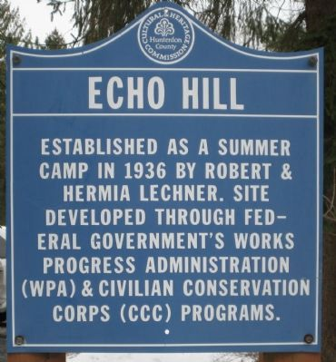 Echo Hill Marker image. Click for full size.