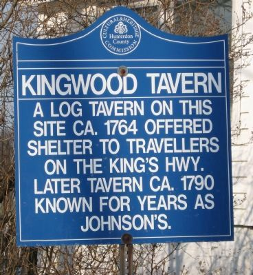 Kingwood Tavern Marker image. Click for full size.