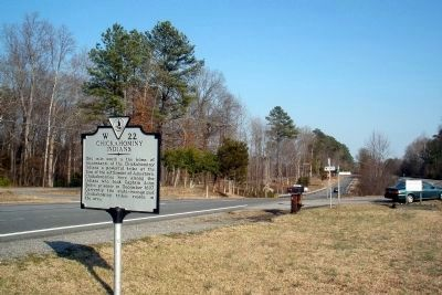 Chickahominy Indians Marker facing east on US 60. image. Click for full size.