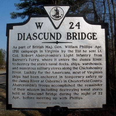 Diascund Bridge Marker image. Click for full size.