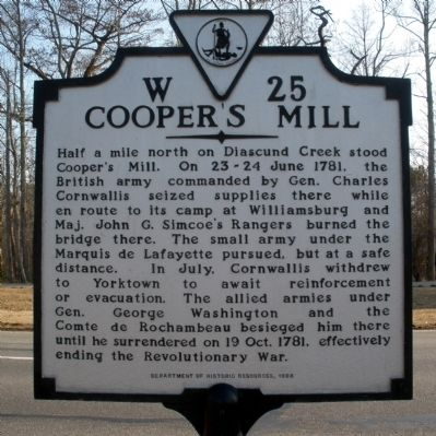 Cooper's Mill Marker image. Click for full size.