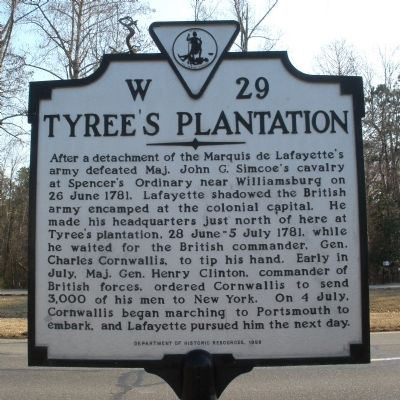 Tyree's Plantation Marker image. Click for full size.