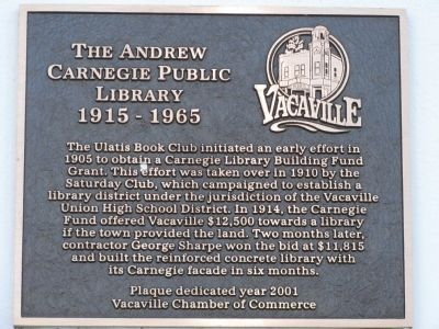 The Andrew Carnegie Public Library Marker image. Click for full size.