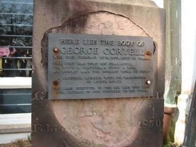 George Coryell's Grave Plaque image. Click for full size.