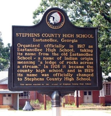 Stephens County High School Marker image. Click for full size.