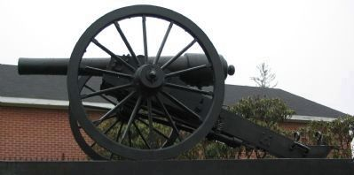 Minature Parrott Rifle on Top of the Monument image. Click for full size.