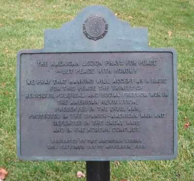 The American Legion Tablet image. Click for full size.
