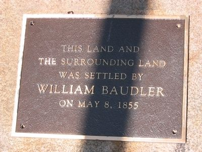 William Baudler Marker image. Click for full size.