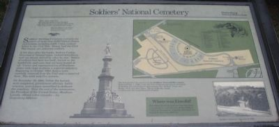 Soldiers' National Cemetery Marker image. Click for full size.