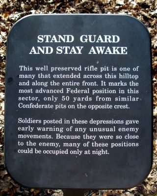 Stand Guard And Stay Awake Marker image. Click for full size.