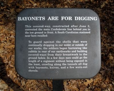 Bayonets Are For Digging Marker image. Click for full size.