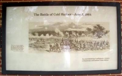 Cold Harbor Visitor Center Display image. Click for full size.