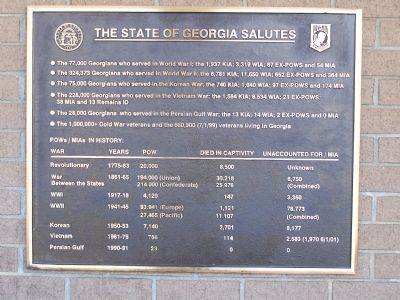 The State of Georgia Salutes Marker image. Click for full size.