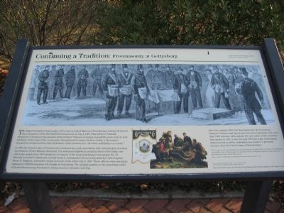 Continuing a Tradition: Fremasonry at Gettysburg Marker image. Click for full size.