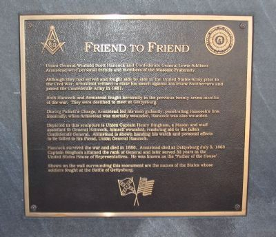 Friend to Friend Memorial Marker image. Click for full size.