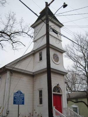 Pattenburg United Methodist Church and Marker image. Click for full size.