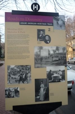 Meridian Hill/Malcolm X Park Marker image. Click for full size.