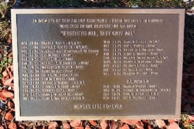 Muskingum County Vietnam War Memorial Marker image. Click for full size.