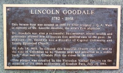 Lincoln Goodale Marker image. Click for full size.