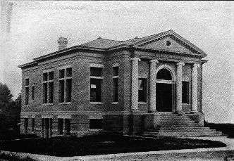 Danville Indiana - Carnegie Library image. Click for full size.