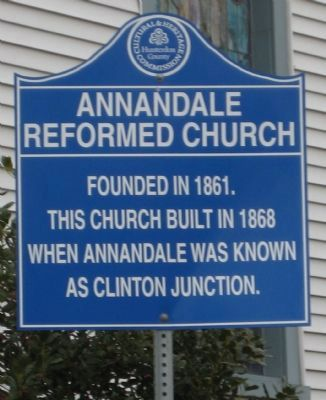 Annandale Reformed Church Marker image. Click for full size.