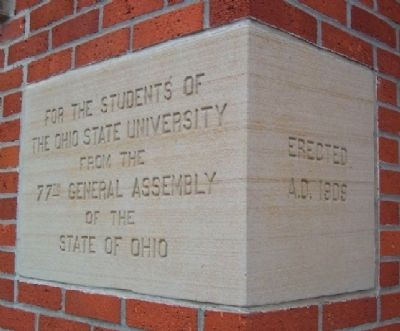 Cornerstone of the Old Ohio Union (Enarson Hall) image. Click for full size.