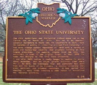 The Ohio State University Marker image. Click for full size.