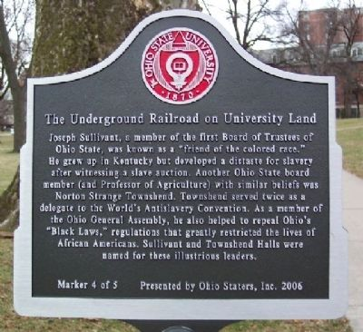 The Underground Railroad on University Land Marker #4 image. Click for full size.