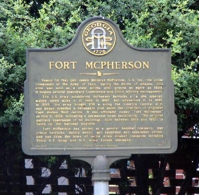 Fort McPherson Marker image. Click for full size.