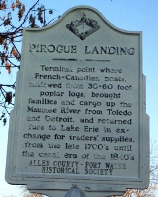 Pirogue Landing Marker image. Click for full size.