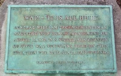 "War! - ""It Is All Hell"" Marker image. Click for full size."