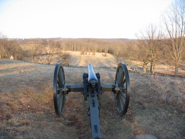 View from One of Wainwright's Guns image. Click for full size.