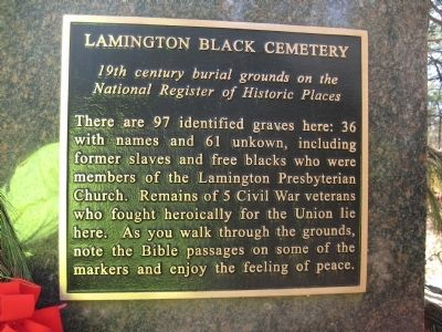 Lamington Black Cemetery Marker image. Click for full size.