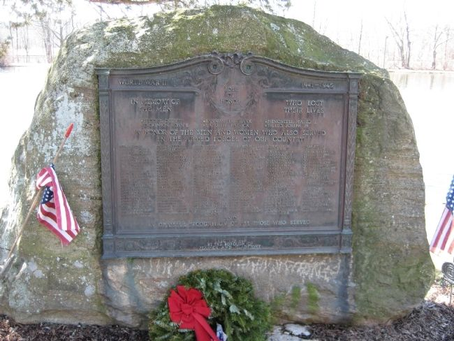 Peapack- Gladstone Liberty Park - WWII Marker image. Click for full size.