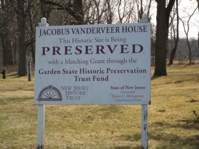 The Jacobus Vanderveer House Preservation image. Click for full size.