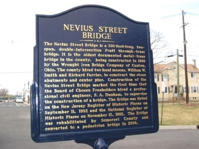 Nevius Street Bridge Marker image. Click for full size.