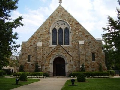 First Presbyterian Church of Spartanburg -<br>Sanctuary Entrance image. Click for full size.